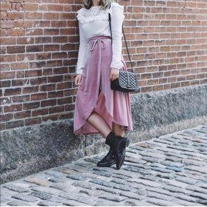 ASOS Pink Velvet skirt size 2